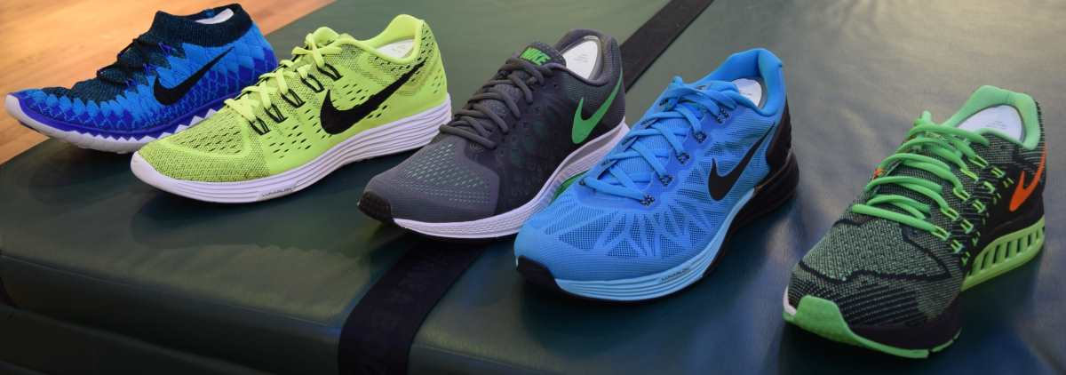 דגמים שונים של נעלי ריצה  נייק
