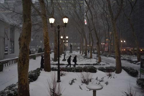 ברייאנט פארק בשלג
