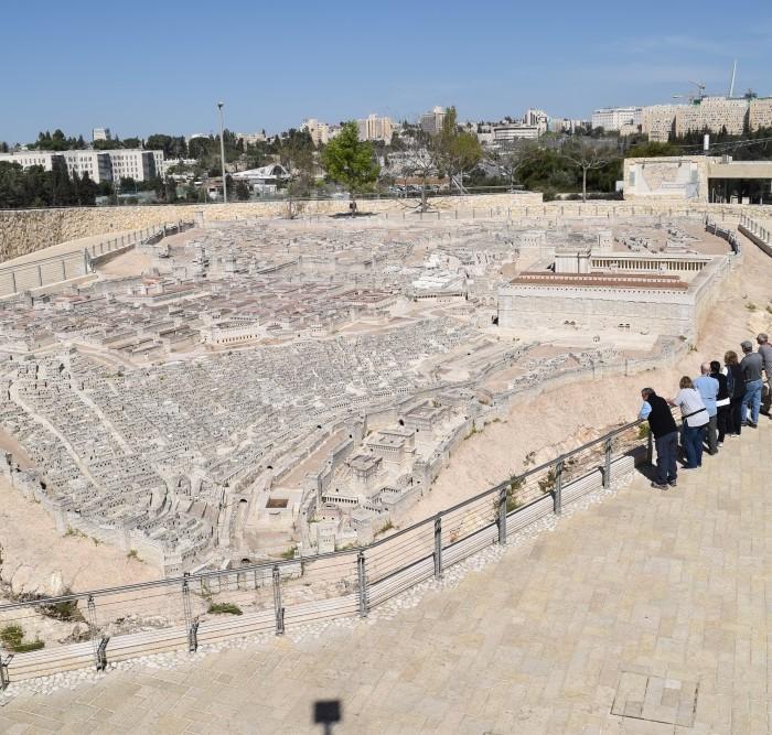 דגם ירושלים בבית שני מוזיאון ישראל