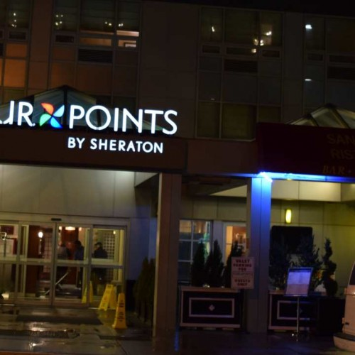 הכניסה למלון מלון שרתון פור פוינטס סוהו ניו יורק
