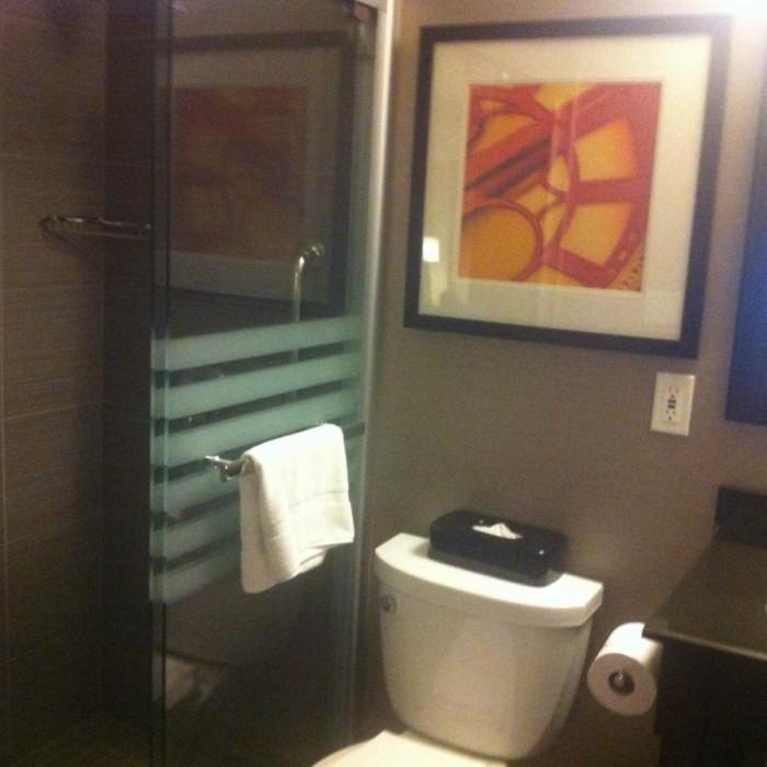 חדר מקלחת מלון הולידיי אין לואר איסט סייד ניו יורק