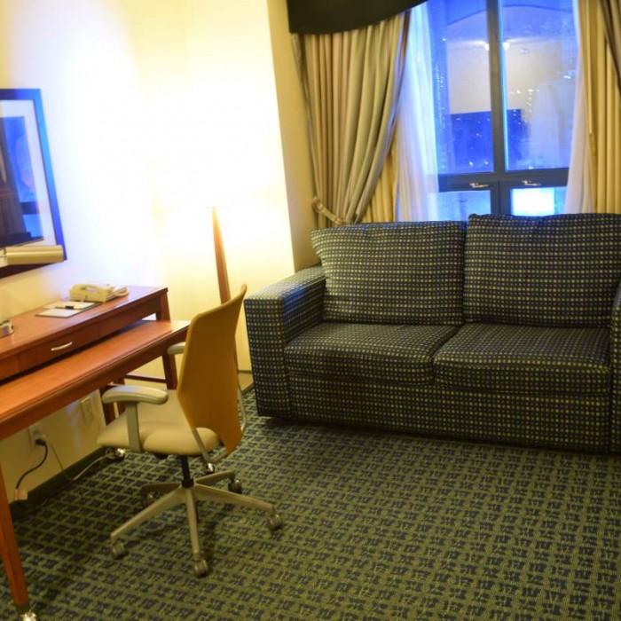החדר הנוסף מלון סוויטות הילטון טיימס סקוור ניו יורק