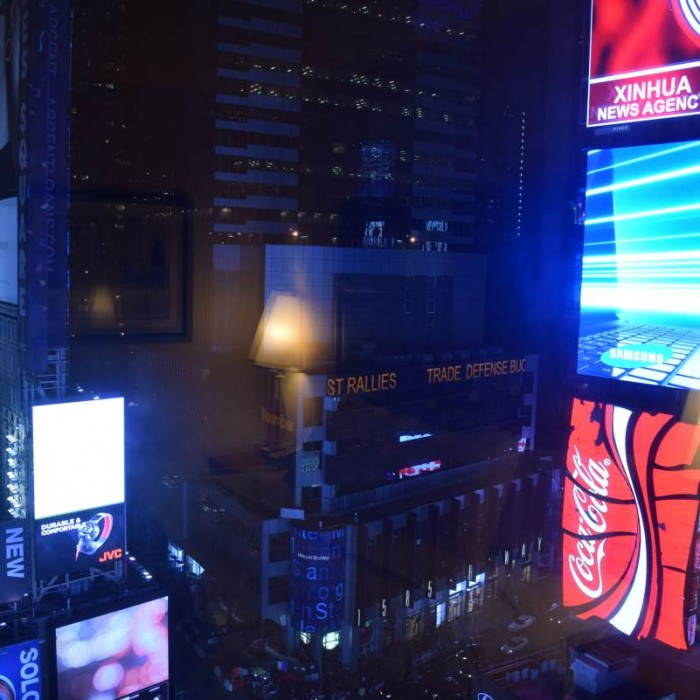 הנוף מהחדר מלון סוויטות הילטון טיימס סקוור ניו יורק