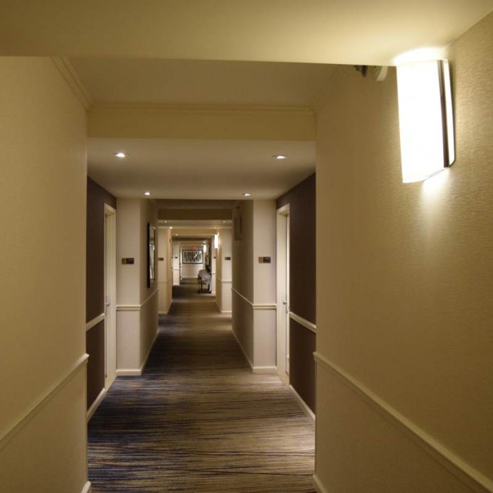 מסדרון בקומת החדרים מלון הילטון טיימס סקוור ניו יורק