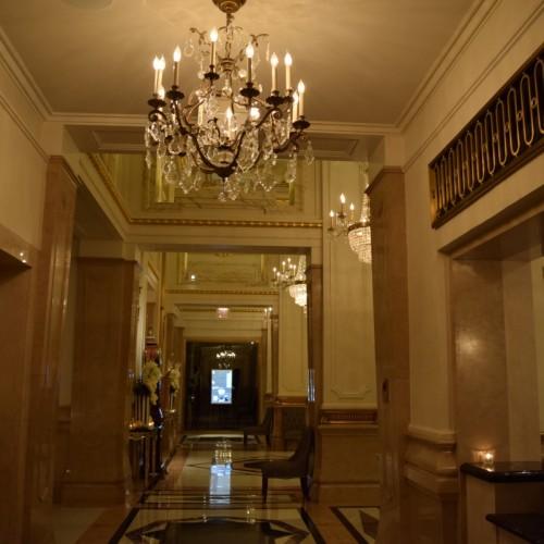 מסדרון הכניסה למלון סט ריג'ס
