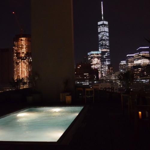 הנוף מהגג מלון ג'יימס ניו יורק