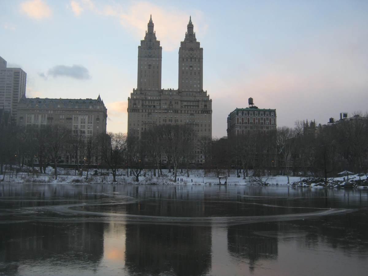 סנטרל פארק בתחילת ינואר