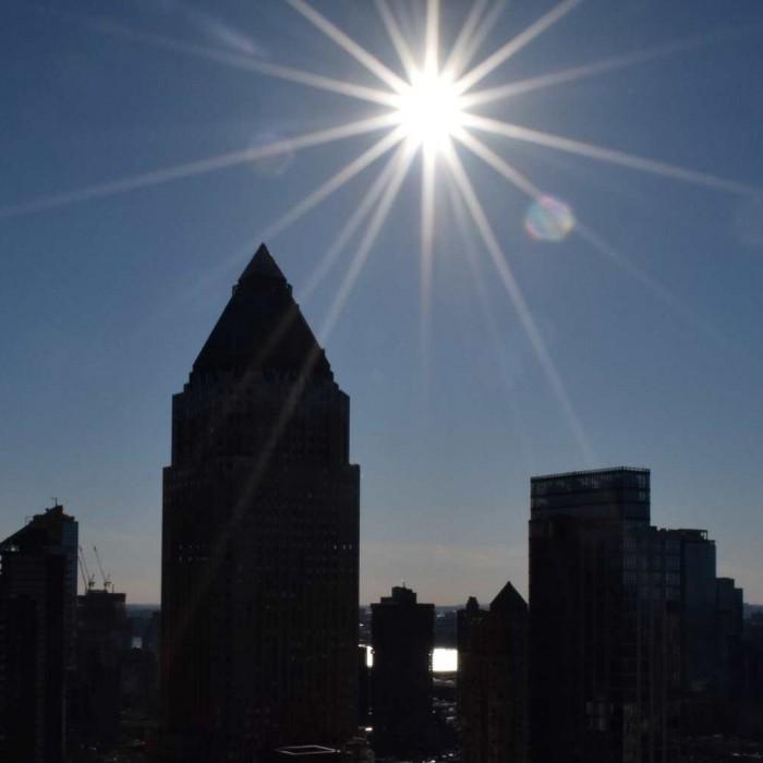 צילום מול השמש