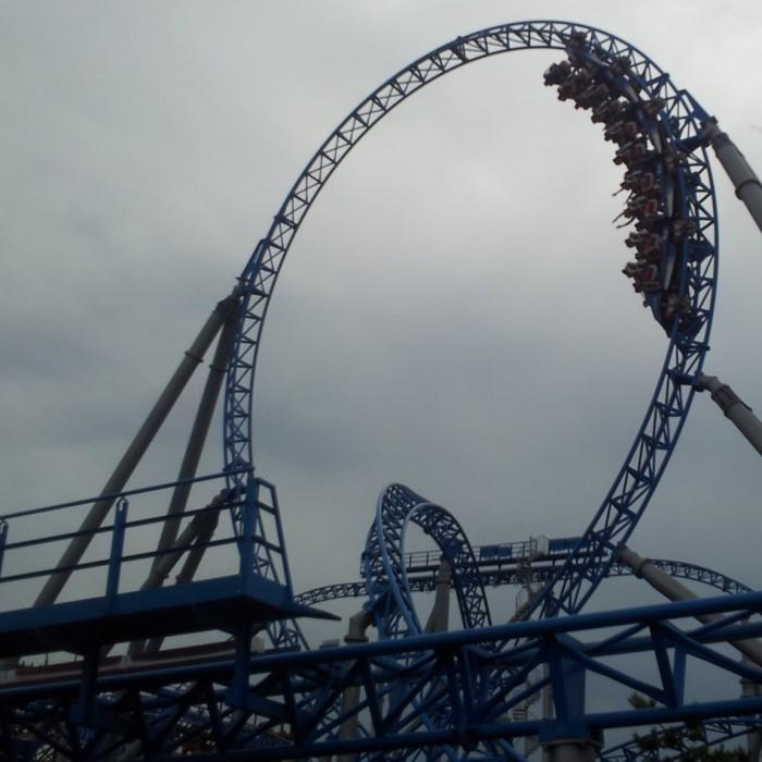 רכבת האש הכחולה פארק אירופה