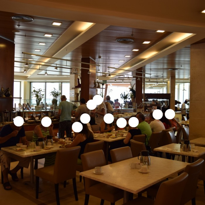 חדר ארוחת הבוקר מלון הוד המדבר ים המלח