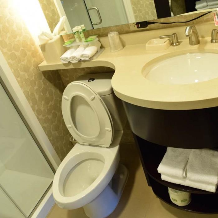חדר מקלחת מלון הולידיי אין אקספרס טיימס סקוור דרום ניו יורק