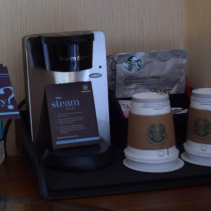 מכונת קפה מלון שרתון טרבייקה ניו יורק