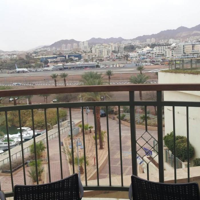 הנוף מהחדר מלון מג'יק פאלאס אילת