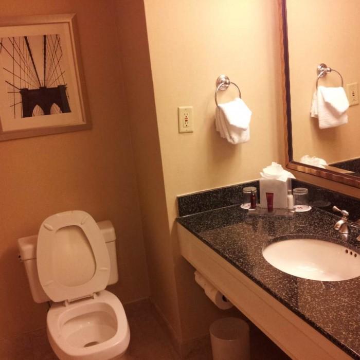חדר האמבטיה מריוט דאונטאון ניו יורק