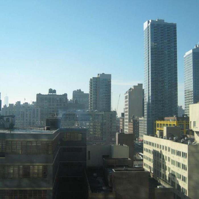 הנוף מהחדר מלון יוטל ניו יורק