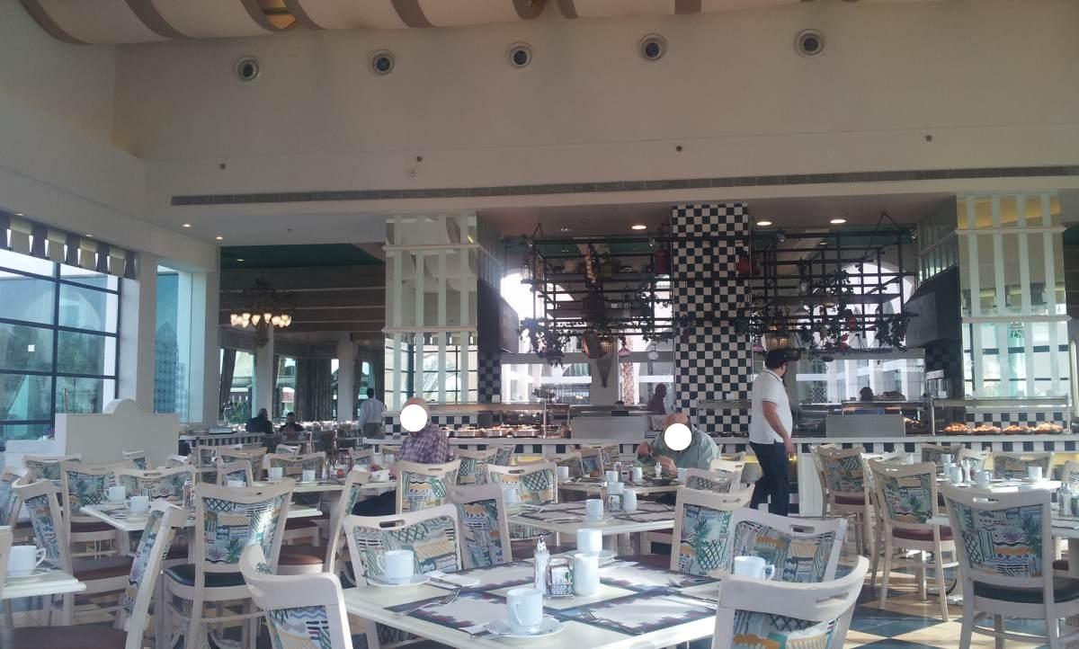 חדר אוכל הרודס פאלאס ארוחת בוקר מלון הרודס בוטיק אילת