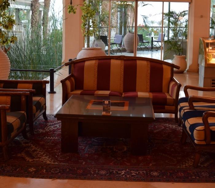 פינת ישיבה מלון הרודס פאלאס אילת