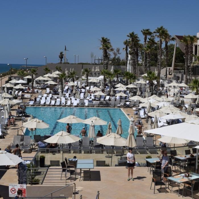 הבריכה מלון הילטון תל אביב