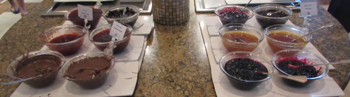 ריבות וממרחים ארוחת בוקר מלון המלך שלמה אילת
