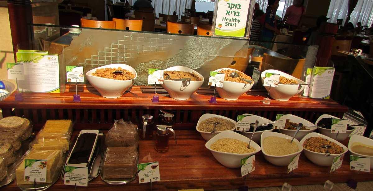 פינת בריאות ארוחת בוקר מלון לאונרדו פלאזה אילת