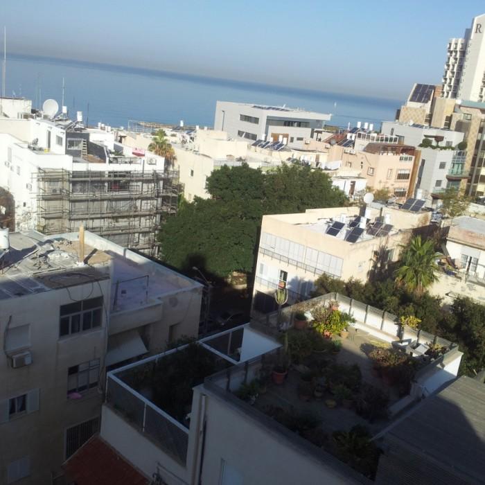 יש גם ים הנוף מהחדר מלון פרימה סיטי תל אביב