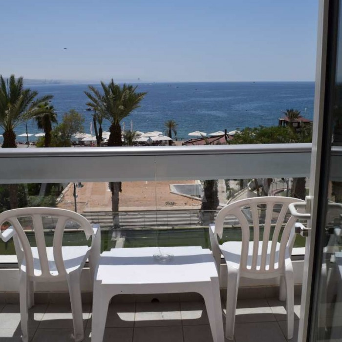 נוף מהחדר לים מלון רימונים אילת