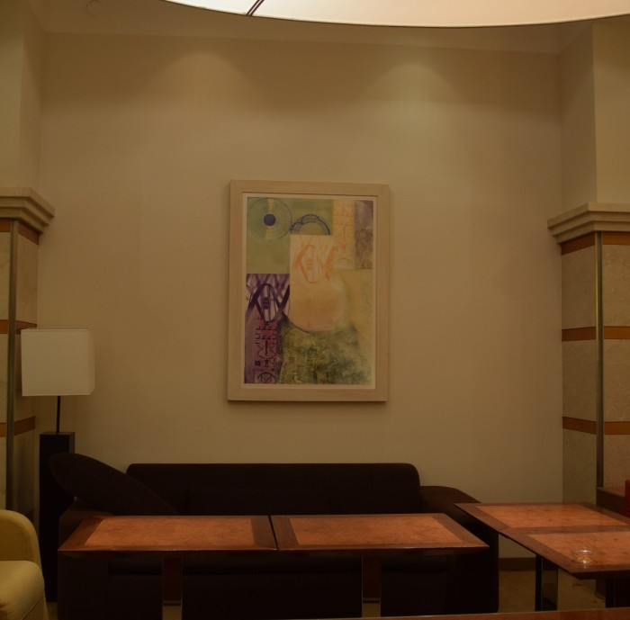 פינת ישיבה בלובי מלון שרתון ניו יורק
