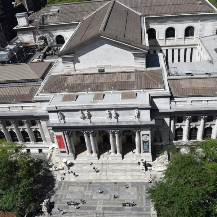 הנוף לספריה העירונית מלון אנדז השדרה החמישית ניו יורק