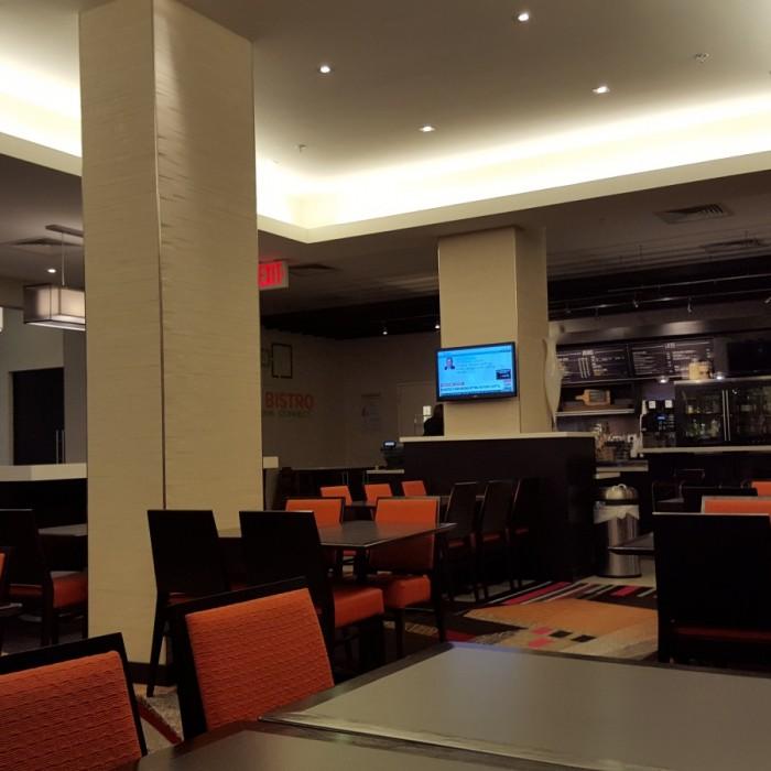 חלק מהלובי וחדר האוכל מלון קורטיארד ניו יורק