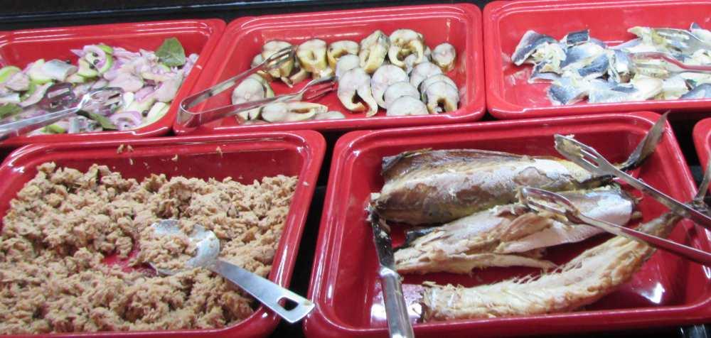 דגים ארוחת הבוקר מלון דן אילת