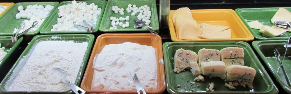 גבינות ארוחת הבוקר מלון דן אילת