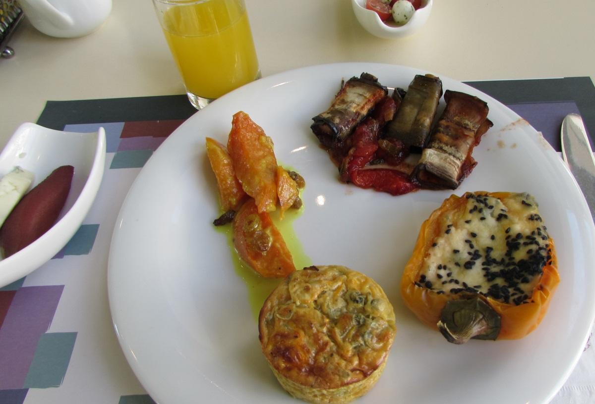 ממולאים, לזניה ארוחת בוקר מלון הרודס פאלאס אילת