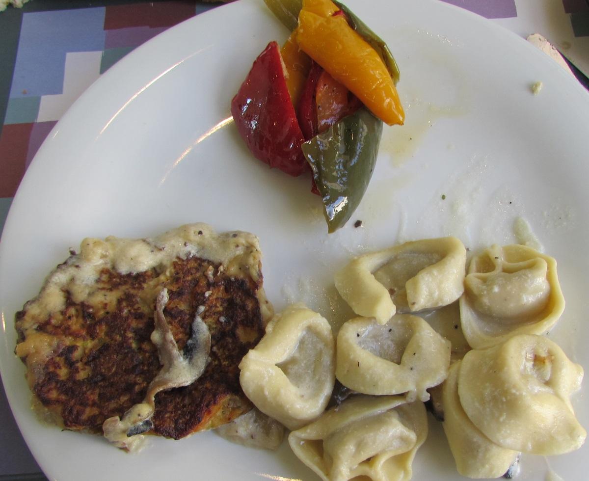 רביולי, פלפלים קלויים ארוחת בוקר מלון הרודס פאלאס אילת
