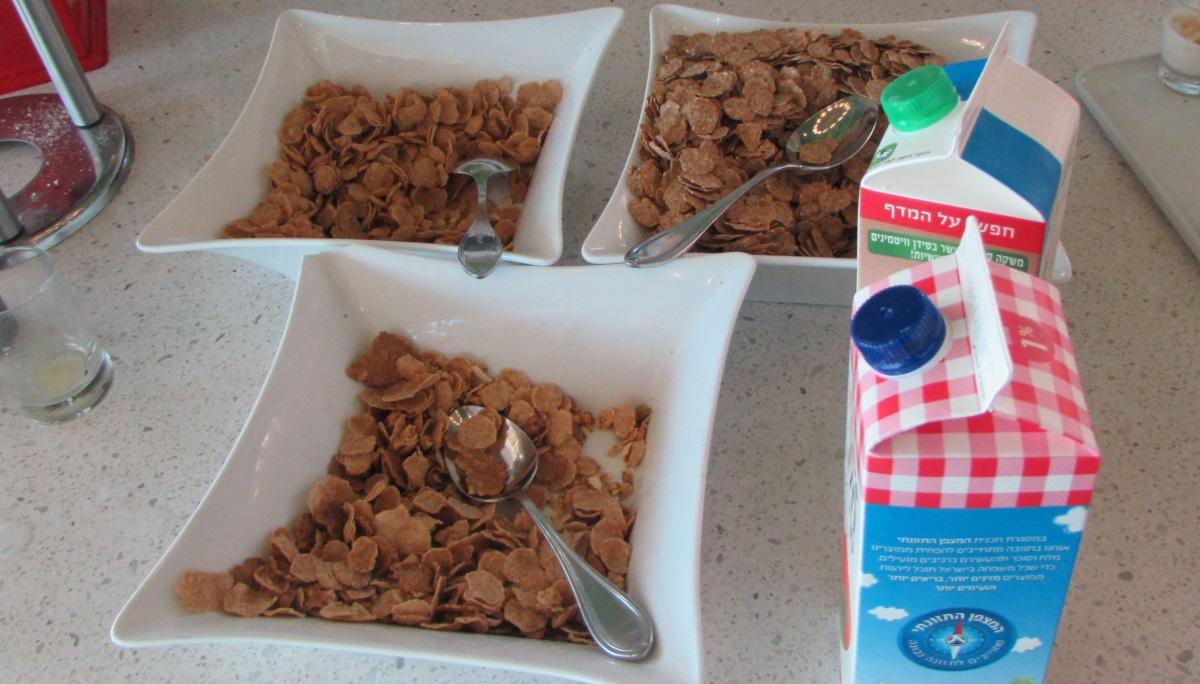 קורנפלקס בריאות ארוחת בוקר מלון הרודס פאלאס אילת