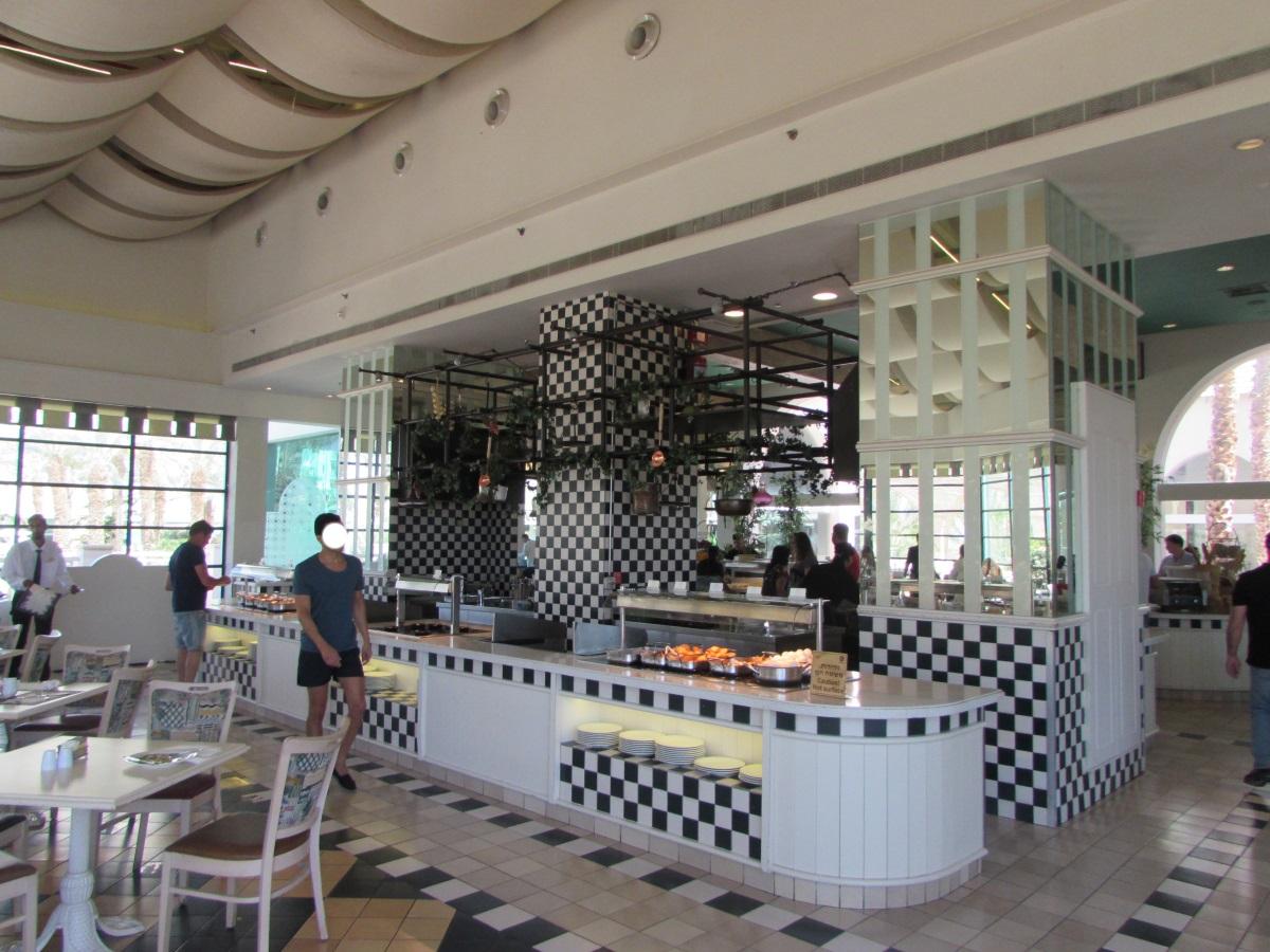 דוכן אוכל ארוחת בוקר מלון הרודס פאלאס אילת
