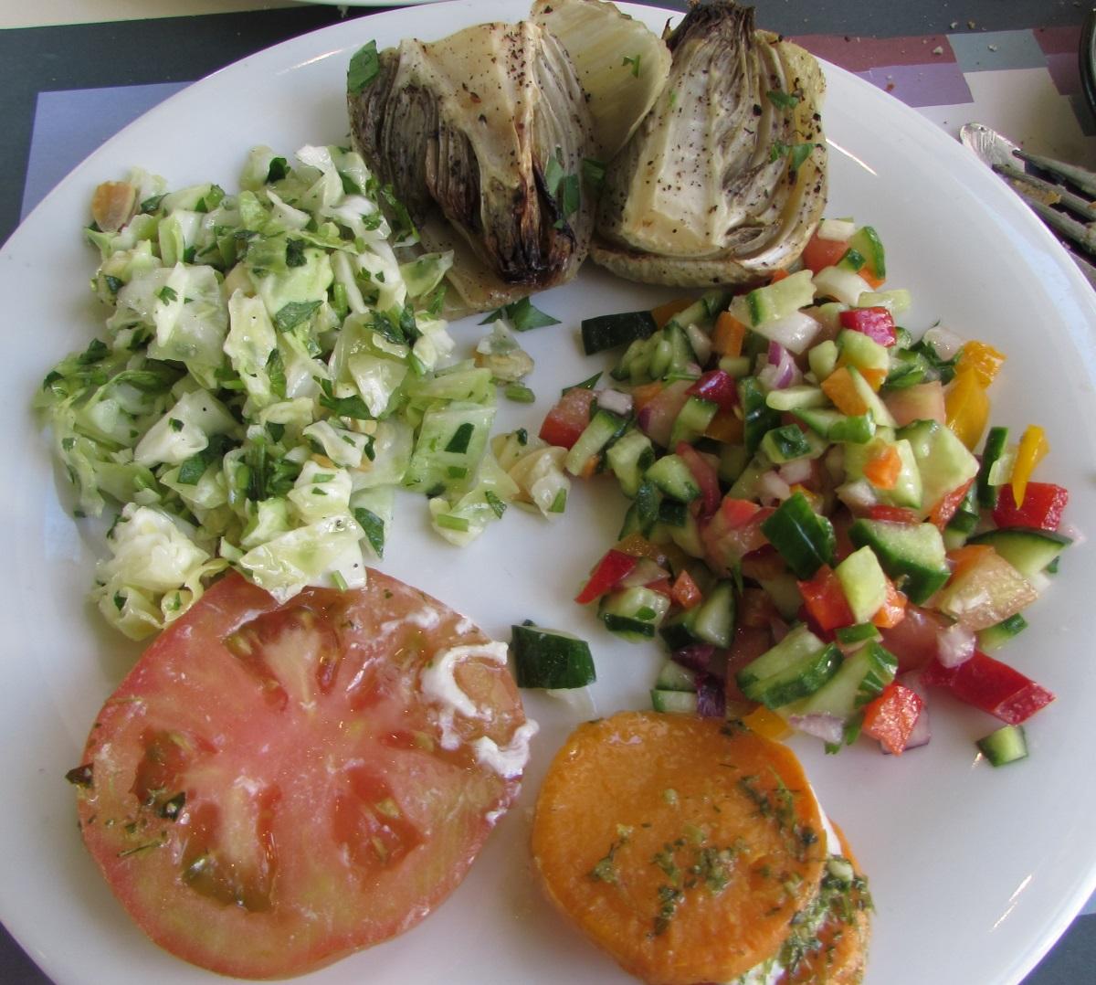 סלטים ארוחת בוקר מלון הרודס פאלאס אילת