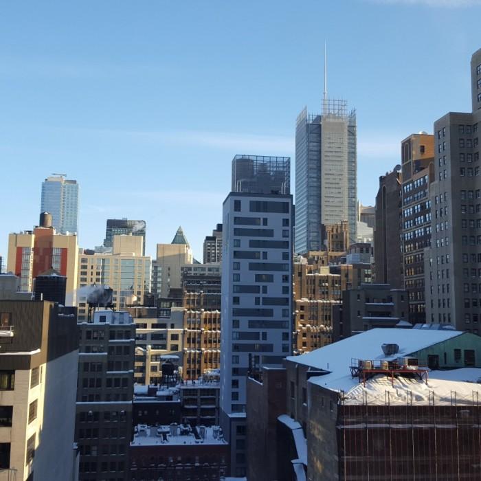 נוף מהחדר (קומה 15) מלון פיירפילד ליד תחנת פנסילבניה ניו יורק