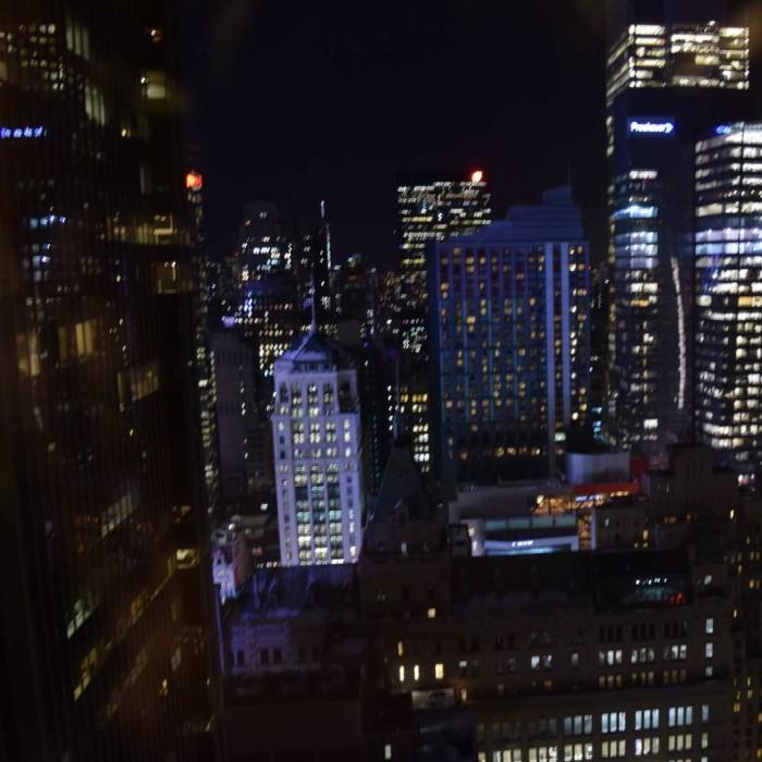 נוף אל העיר או טיימס סקוור, כאן מקומה 39 מלון מריוט מרקיז