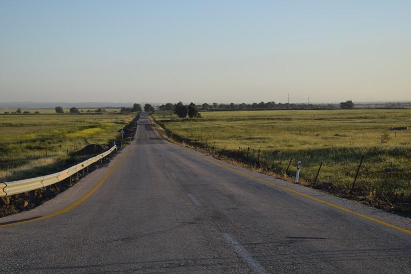 מכאן אנחנו בשטח מישורי כביש 98