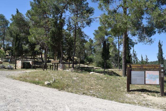 מקום החנייה ביער קדושים