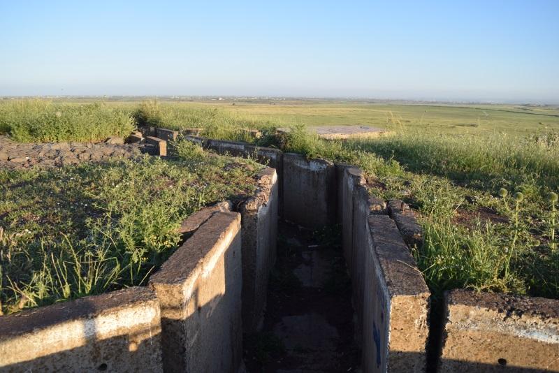 שרידי המוצב בתל סאקי