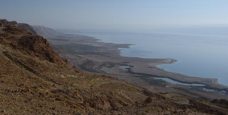 הנוף ממצוקי דרגות כביש 90 באיזור ים המלח