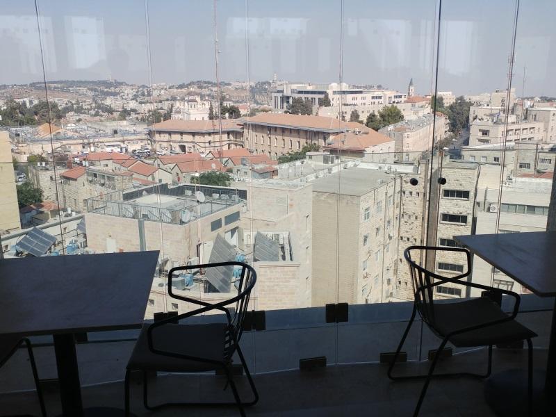 הנוף במסעדת הרברט סמואל ירושלים