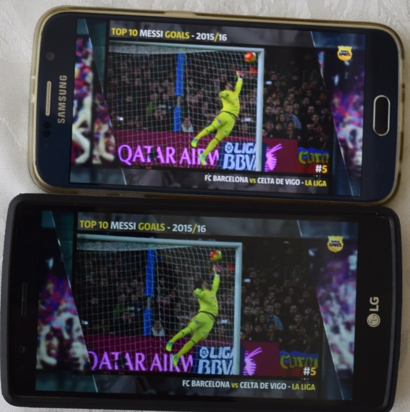 גלקסי 6 בעל תצוגה בהירה יותר מה- LG G4