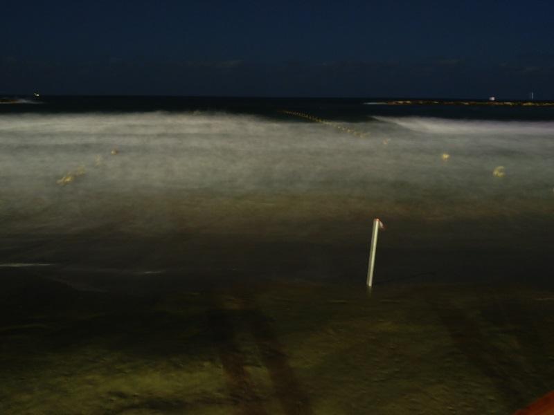 צילום עם חשיפה ארוכה. הים הופך מואר יותר וגם נוצר אפקט מתנועת הגלים LG G5