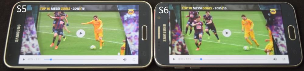 גם כאשר מסתכלים מהצד שני המכשירים נותנים תצוגה טובה וזהה