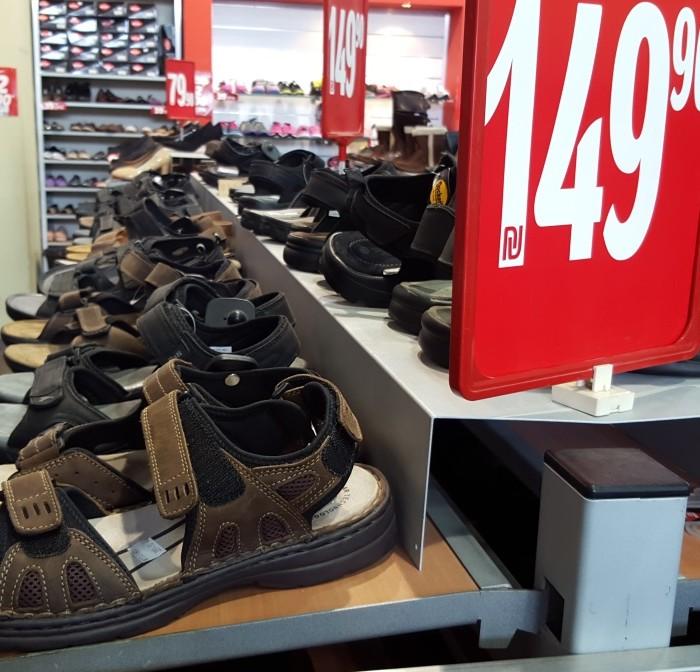 נעלי גלי עודפים, סנדלים 150 שקלים