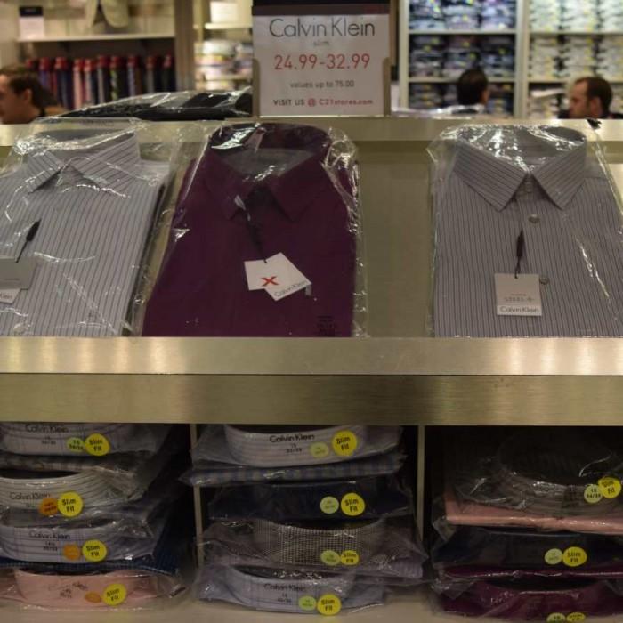 33$ במקום 82$ קלווין קליין בסנצ'רי 21 קניות בניו יורק גברים חולצות מכופתרות