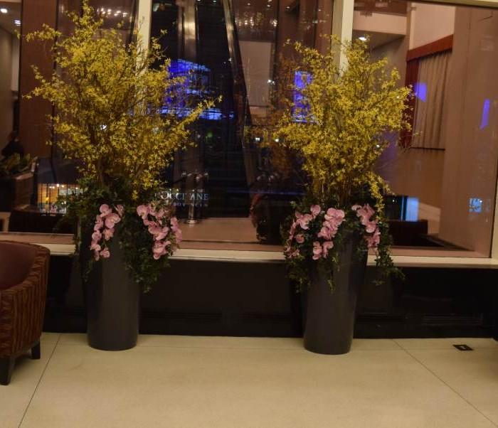 סוף המדרגות הנעות מלון קראון פלאזה ניו יורק
