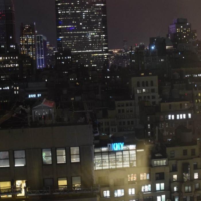 הנוף מהחדר בלילה מלון הילטון טיימס סקוור ניו יורק